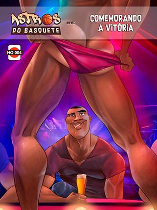 Comemorando a vitória - Astros do Basquete