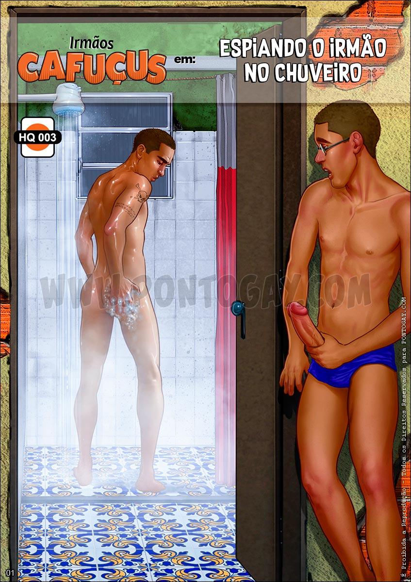 Irmãos Cafuçus - Espiando o irmão no chuveiro