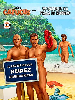 Os Cafuçus na praia de nudismo - Irmãos Cafuçus