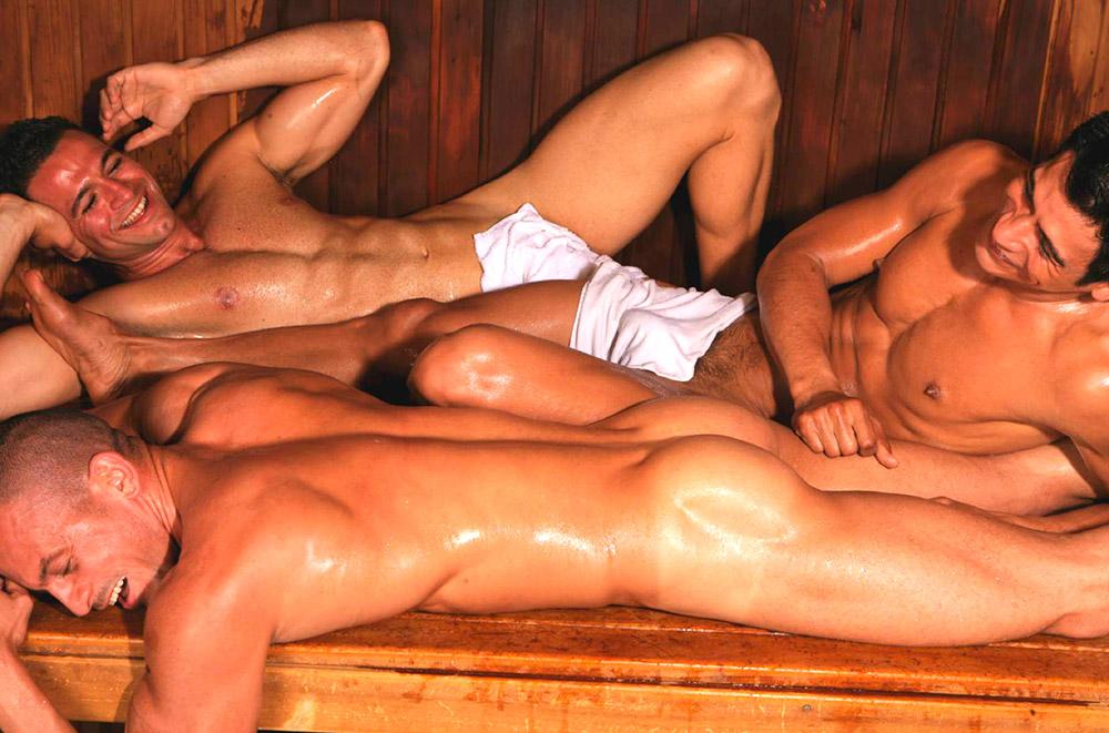 Pela primeira vez em uma sauna gay