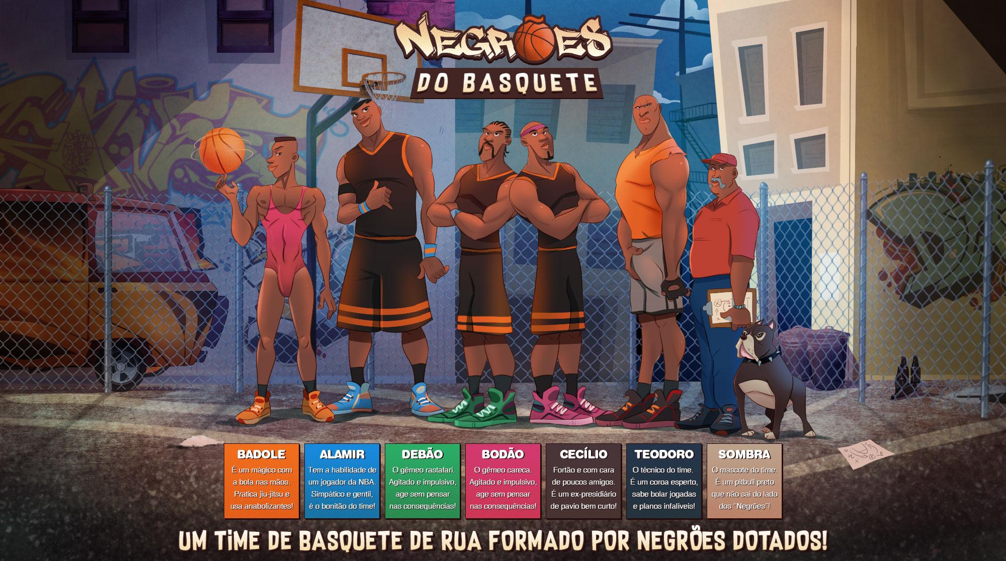 Negrões do Basquete - header