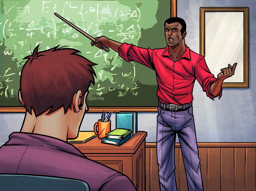 Romance secreto entre professor e aluno