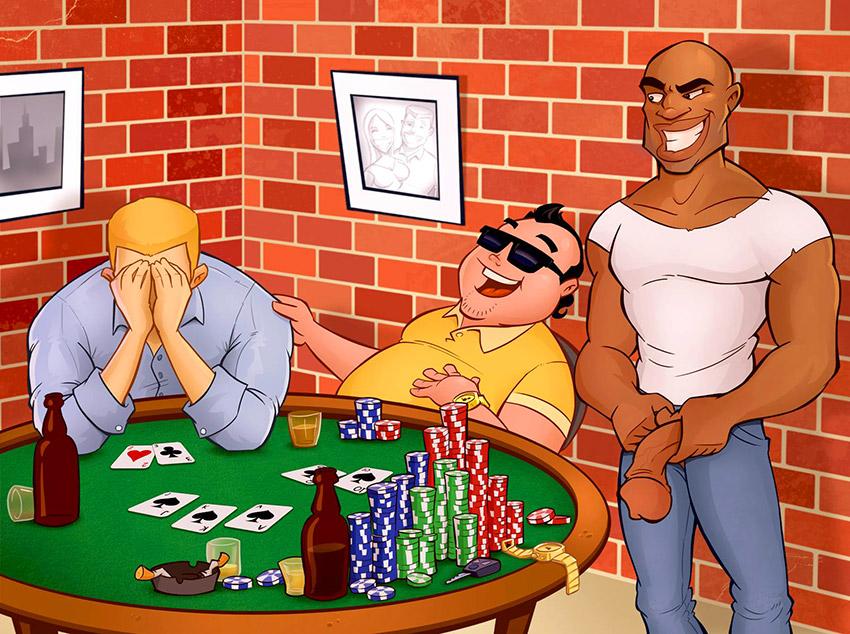Apostei meu cuzinho no pôquer
