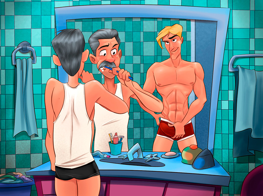 Incesto! Eu e meu filho no banheiro