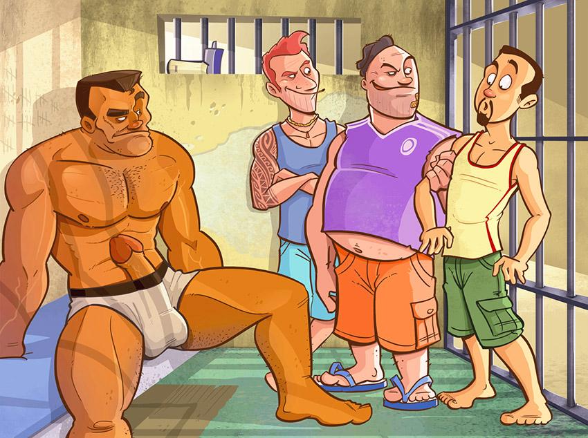 Na cadeia com o brutamontes
