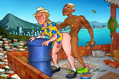 O turista alemão e o favelado